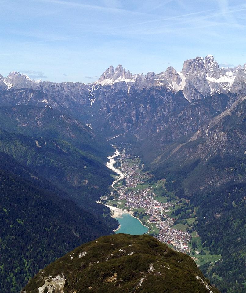 Vigo di Cadore (Bl), Tre Cime di Lavaredo viste dal Monte Tudaio.
