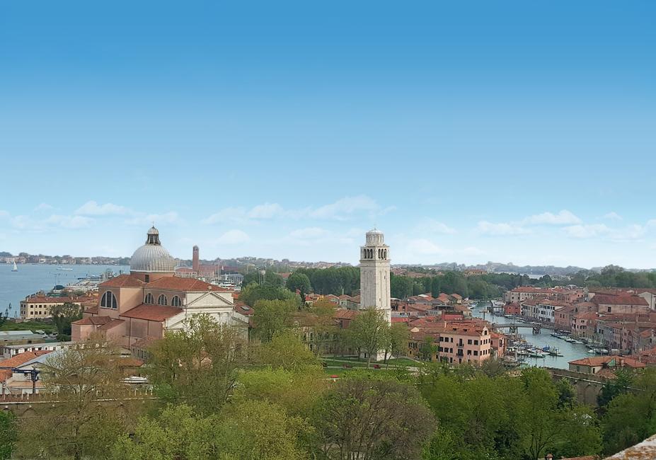 Venezia, Isola di San Pietro di Castello vista dalla Torre di Porta Nuova.