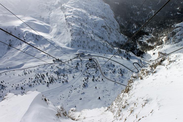 Passo Falzarego (Bl), Veduta invernale.