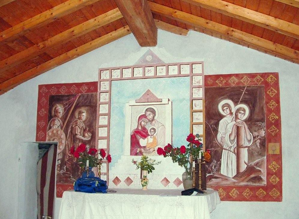 Segusino (Tv), Affreschi della Chiesa dei Santi Gervasio e Protasio.