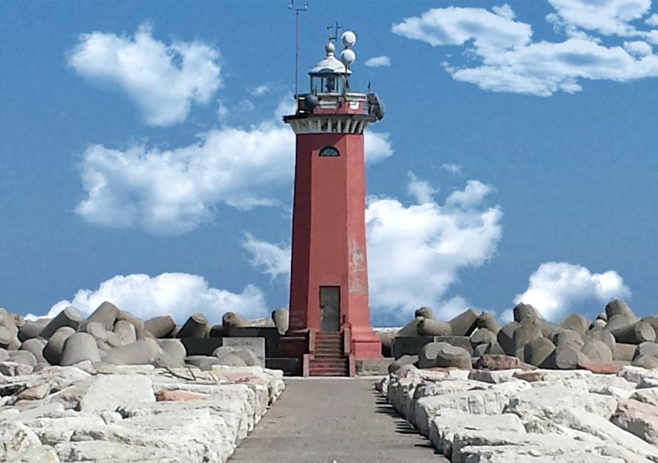 Venezia, Lido (Ve), Faro della diga di San Nicolò.