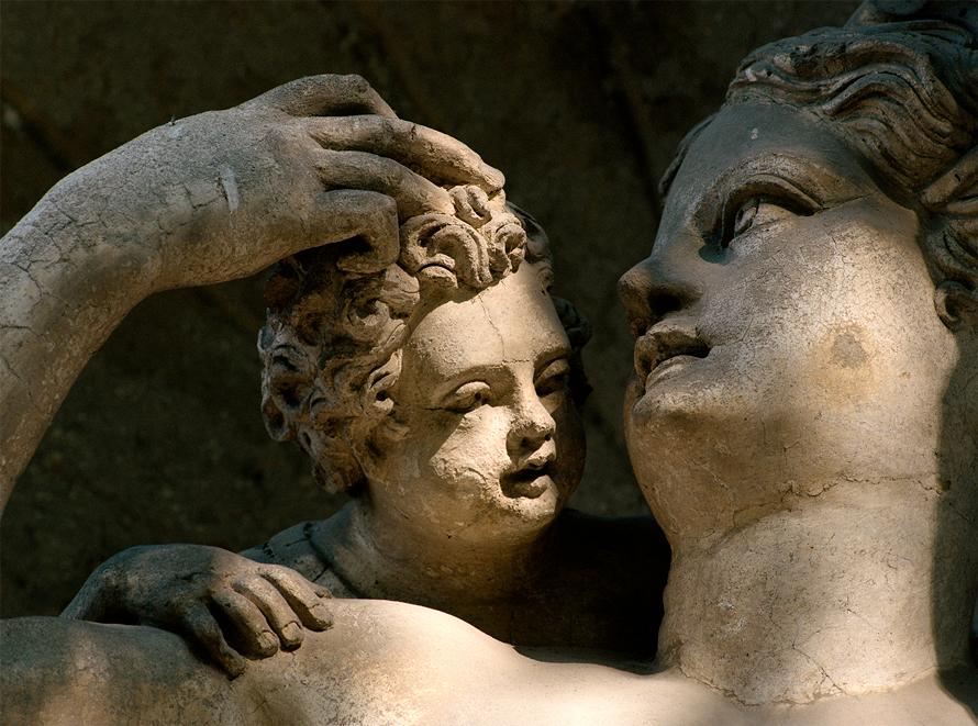 Verona, Giardino Giusti, Particolare statua.