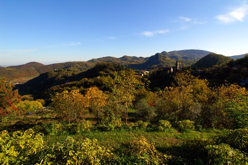 Teòlo (Pd), Parco Regionale dei Colli Euganei, Panorama sui Colli Euganei.