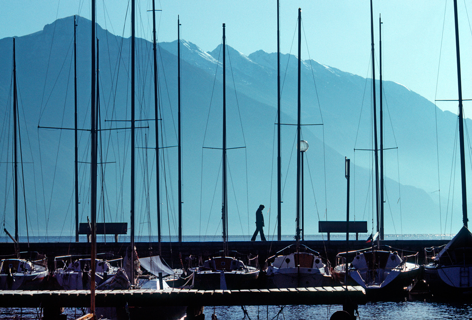 Monte Baldo (Vr), Veduta dal Lago di Garda.